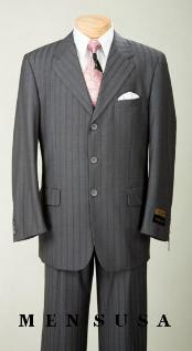 SKUAG21 1295 UMO Collezion Nicest Charcoal Gray Ton On Ton Shadow Pinstripe 2 or 3 Button