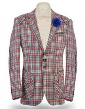 Windowpane Blazer Jacket Island
