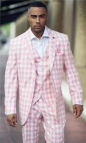 2 Button Suits Pink-