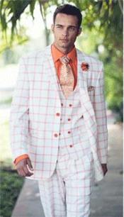 2 Button Suits Orange