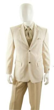 SKU#ET01C Mens Summer Seersucker Blazer Sport coat Jacket 2 button Beige $99