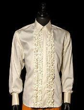 Ivory Tuxedo Shirt With