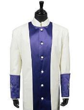 Clergy Long Robe Purple/Cream