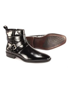 Leather Dress Boots Black