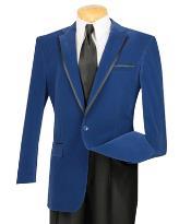 Men's royal blue blazer