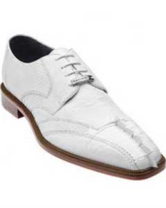 SKU#SS-659 Belvedere Topo Hornback & Lizard Shoes White