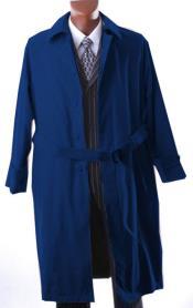 blue trench coat men