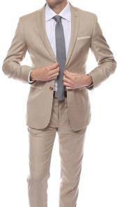 slim fit brown suit