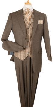 men's brown suit