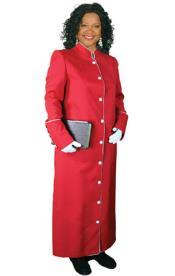 Full Length Clergywear Red/White