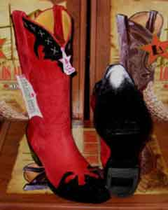Los Altos Red/Black Leather