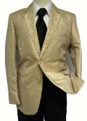 gold blazer mens