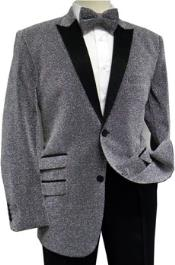 Mens Silver Glitter Stage Singer Entertainer Sport Coat Jacket Tuxedo Jacket / Blazer Mens / Tux / Dinner Jacket Looking