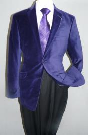 purple velvet blazer mens