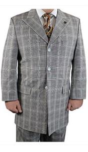3 Button Suit Plaid