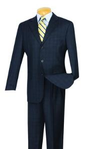 Tweed Pattern Suit Pleated