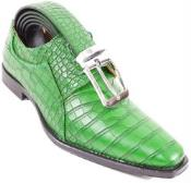 SKU#SM323 Shamrock Crocodile Print Skin lace Up Shoe