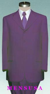 SKU#MU3PP MENS Single Breasted Deep Joker PURPLE DRESS SUIT 3 Button SUITS