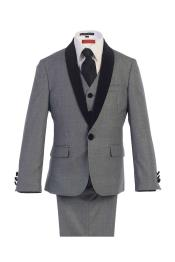 1 Button Vested suit