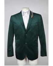 Mens 2 Button Velvet Blazer Jacket Hunter