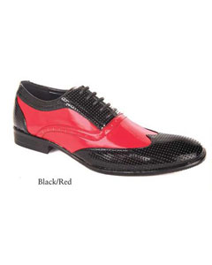 SKU#SD23 Mens Dress Black And Red Shoes $99