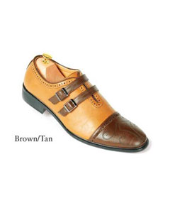 SKU#SD24 Brown/Tan Dress Shoes For Men $99