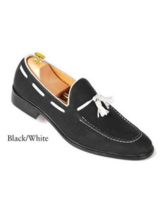 SKU#SD26 Black And White Mens Dress Shoes $99