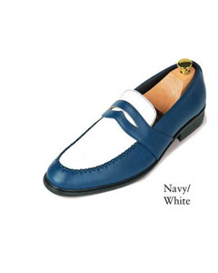 SKU#SD27 Navy Blue And White Shoes For Men $99