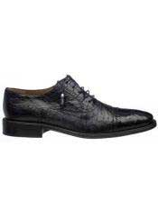 Black Mens World Best Alligator ~ Gator Skin & Ostrich Quill Cap Toe Shoes