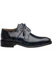 Navy Genuine Full World Best Alligator ~ Gator Skin Mens Lace