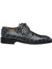 Mens Gray Square Toe Leather Lining And Heel World Best Alligator