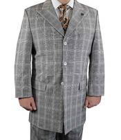 SKU#SM1215 Tan Men's Stacy Adams Brand 3 Piece Rust Plaid Square Single Breasted Vested Suit