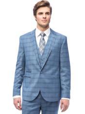 Slim Fit Vested Suit