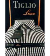 Italian Mens Black Cotton
