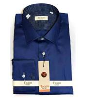 Italian Mens Solid Navy