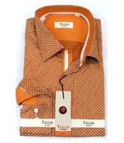 Italian Mens Brown Cotton