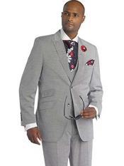 SKU#SM1698 Men's 3 Piece Black Grey Peak Lapel Modern Fit In Wool Blend Vested Suit