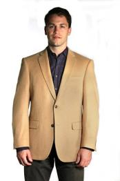 SKU#DX6025 Men's Wool Cashmere Coat Available in Black, Grey, Brown & Camel ~ Khaki Colors