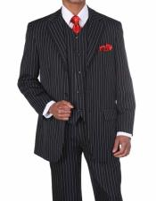 3 Button Vested Pinstripe