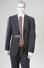 Double Vent Cahrcoal Gray Super Wool 2 BUTTON Suit