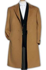 Luxurious Mens Dress Coat Khaki~Camel ~ soft finest grade of Cashmere