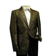 Shiny Black/Gold Leopard Print