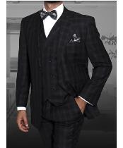 ITALY Black/Gray Peak Lapel