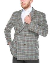 Windowpane Plaid Grey Wool