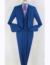 Royal Blue 2 Buttons Vested