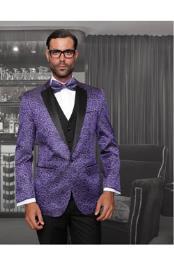 Purple Sport coat Black