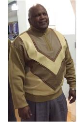 Mens Bagazio Tan/Ivory Long Sleeve Sweater