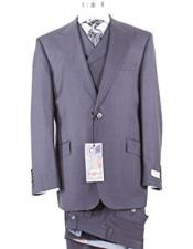 Rosso Mens Wool Charcoal