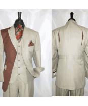 Tan Rust Vested Jacket
