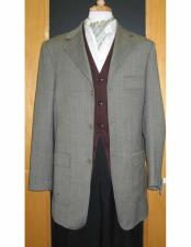 Testardi Brand Grey Three Three ~ 3 Buttons 95% Wool5% Cashmere Checker Pattern Sport Jacket Blazer Coat